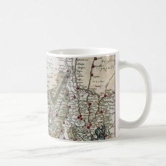 Vintage coastal map of Holland Coffee Mug