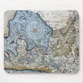 Vintage coastal map of Holland Mouse Pad