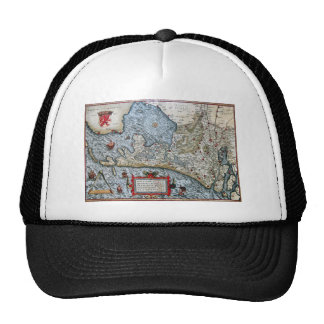 Vintage coastal map of Holland Trucker Hat