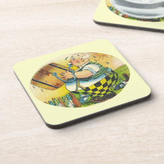 Vintage Coasters Beer Guzzling Keg Tapping Sweat