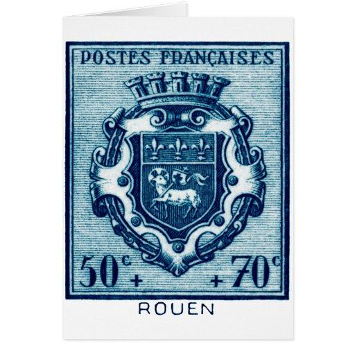 Vintage Coat of Arms Rennes, France Greeting Card