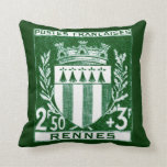 Vintage Coat Of Arms Rennes, France Throw Pillow at Zazzle