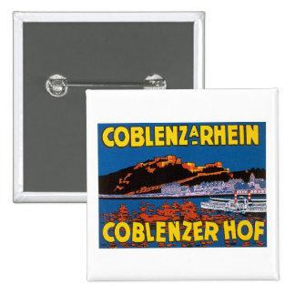 Vintage Coblenzer Hof Hotel Germany Buttons