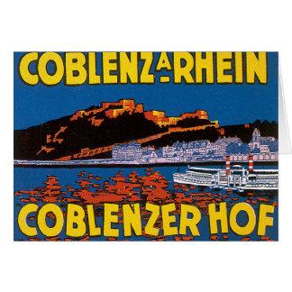 Vintage Coblenzer Hof Hotel Germany Card