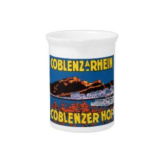 Vintage Coblenzer Hof Hotel Germany Drink Pitchers