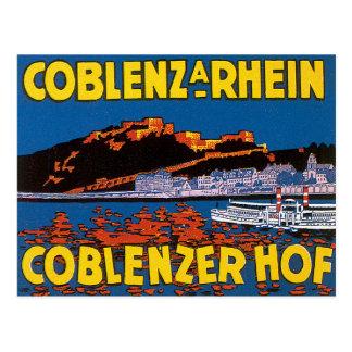 Vintage Coblenzer Hof Hotel Germany Post Card