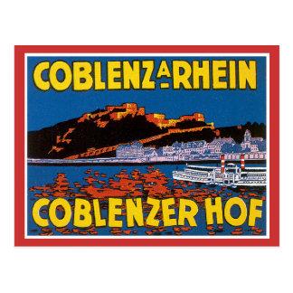 Vintage Coblenzer Hof Hotel Germany Post Cards