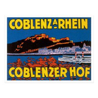 Vintage Coblenzer Hof Hotel Germany Postcards