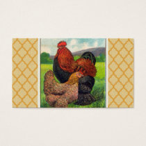 Vintage Cochin Chickens Business Card