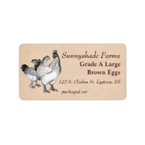 Vintage Cochin Chickens Egg Carton Label