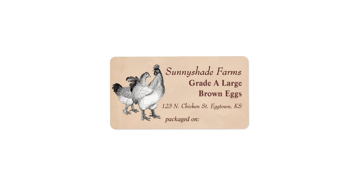 Egg gifts on zazzle vintage cochin chickens egg carton label pronofoot35fo Image collections