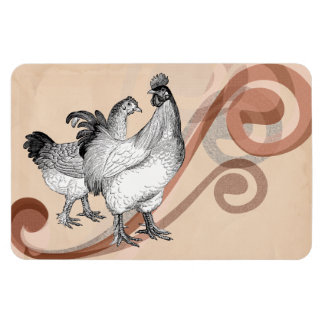 Vintage Cochin Chickens Flexible Magnets