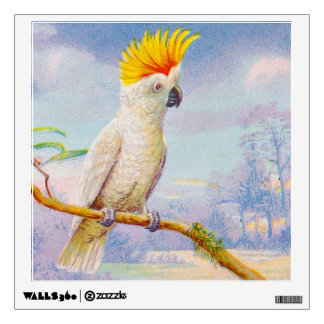 Vintage Cockatoo Drawing Wall Sticker
