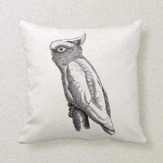 Vintage Cockatoo Tropical Bird Illustration Pillow