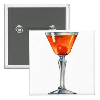 Vintage Cocktail Booze Drink Manhattan Button