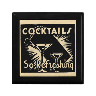 "Vintage Cocktails Are ""So Refreshing"" Jewelry Box"