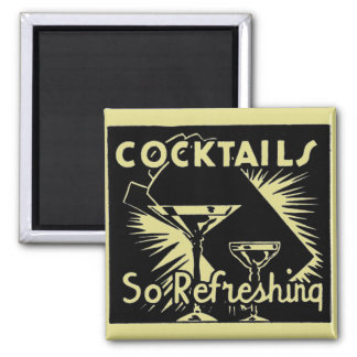 """Vintage Cocktails Are """"So Refreshing"""" Magnets"""