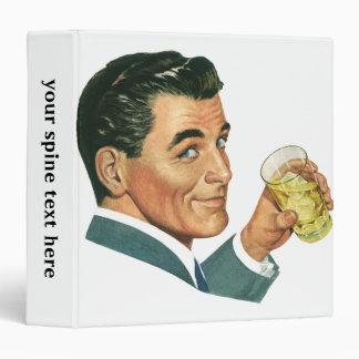 Vintage Cocktails Beverages, Man Drinking Drinks Binder