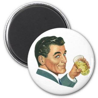 Vintage Cocktails Beverages, Man Drinking Drinks Magnet