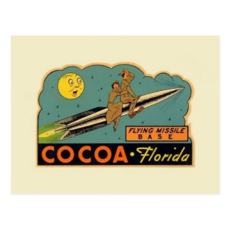 Vintage Cocoa Florida Missile Base Postcard