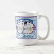 Vintage Cocoa Label Snowman Tea or Coffee Mug