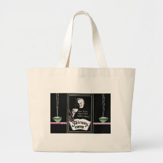 Vintage Coffee Ad - 80 Cups Per Pound Large Tote Bag