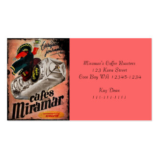 Vintage Coffee Ad for Miramar Business Card