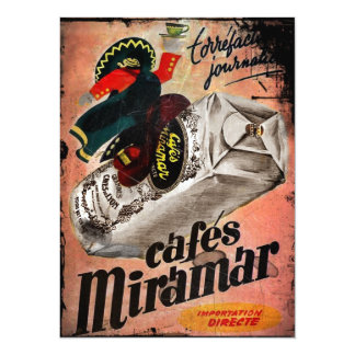 Vintage Coffee Ad for Miramar Card