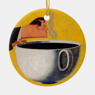Vintage Coffee Advertisement Ceramic Ornament
