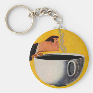 Vintage Coffee Advertisement Keychain