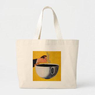 Vintage Coffee Advertisement Large Tote Bag