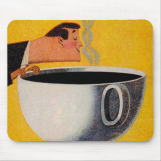 Vintage Coffee Advertisement Mouse Pad
