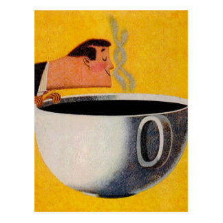 Vintage Coffee Advertisement Postcard