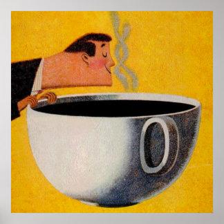 Vintage Coffee Advertisement Poster