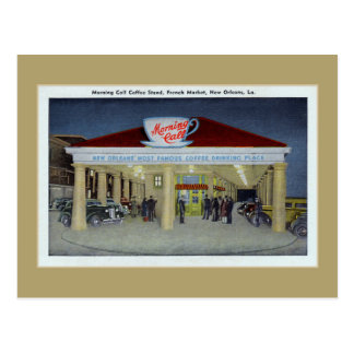 Vintage coffee bar New Orleans LA Postcard