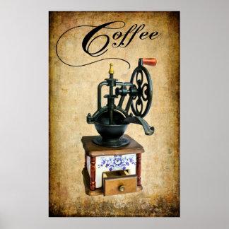 VINTAGE COFFEE BEAN GRINDER POSTER