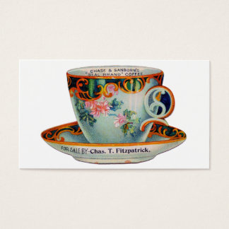 Vintage Coffee Cup Coffee Mug Business Card