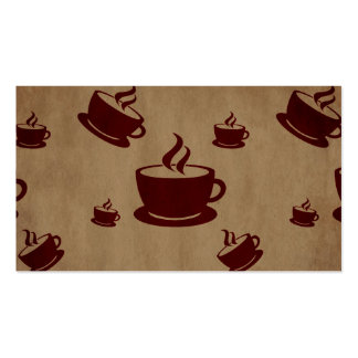 Vintage Coffee Cup Wonderland Double-Sided Standard Business Cards (Pack Of 100)