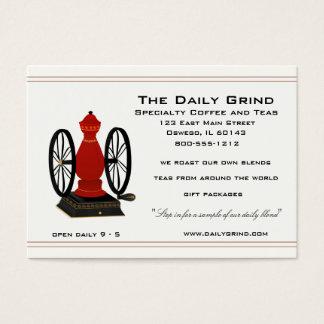 Vintage Coffee Grinder Business Card