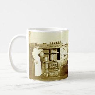 Vintage Coffee-Making Antique Photo Coffee Mug