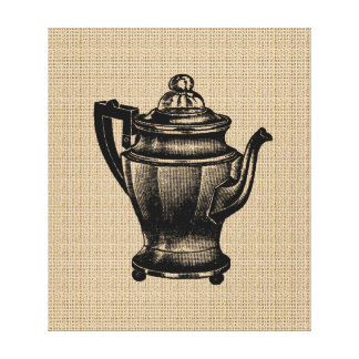 Vintage Coffee Pot on Canvas Canvas Prints
