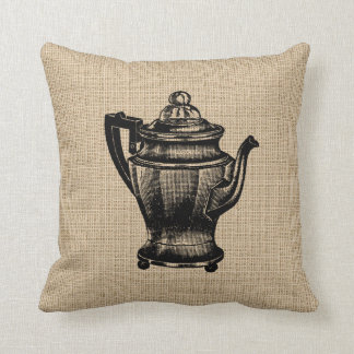 Vintage Coffee Pot Pillow