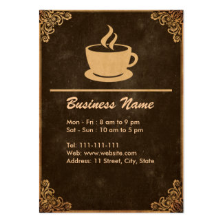 Vintage Coffee Shop Business Card Template