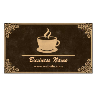 Vintage Coffee Shop Business Cards