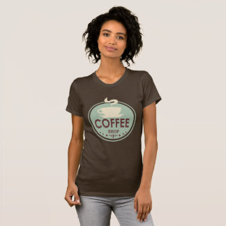 Vintage coffee shop word art t-shirt