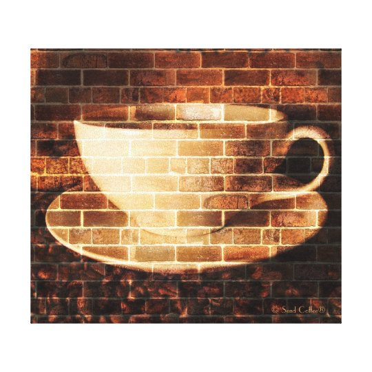 Brick Style Coffee Art Canvas