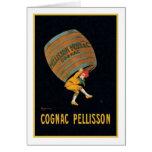 Vintage Cognac Pellisson Ad Card