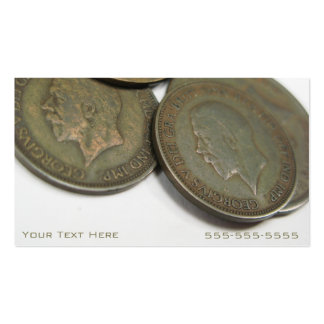 Vintage Coins Business Cards
