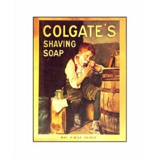 Vintage Colgate Shaving Soap Boy Shaving shirt