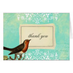Vintage Collage Bird Greeting Card Custom Text